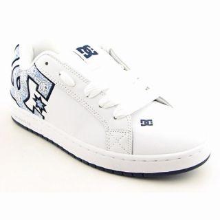 DC Shoe Co USA Mens ?Graffik SE? White DC Print Skate Shoes (Size 10