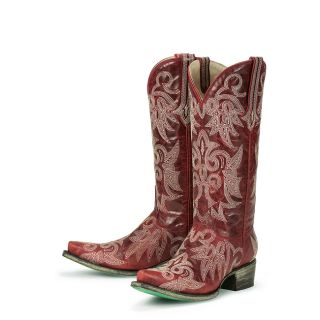 Lane Boots Womens Red Wild Ginger Cowboy Boots