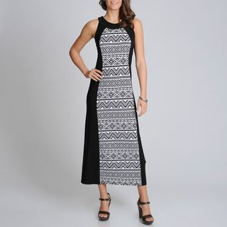 Richards Womens Black/ White Aztec Print Maxi Dress