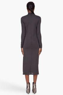 Silent By Damir Doma Charcoal Knotted Turtleneck Dress for women