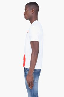 Comme Des Garçons Play  White Red Logo Emblem T shirt for men