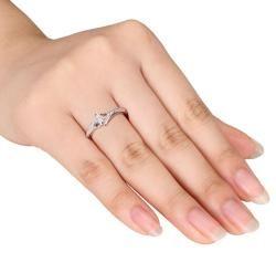 Miadora 10k White Gold 1/6ct TDW Diamond Ring