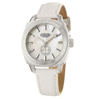 Coach Ali Sport Womens Mother of Pearl Dial Leather Watch