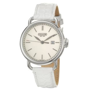 Coach Hamptons Womens Silver Dial Patent Leather Watch