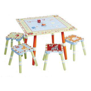 Alphabet Soup 5 piece Table/ Stool Set