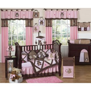 Sweet Jojo Designs Pink Teddy Bear 9 piece Crib Bedding Set Today $