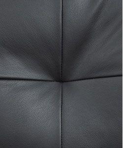 Black Leather Sectional Sofa/ Ottoman Set