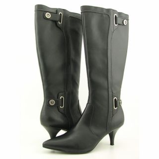 Style & CO Smarty Womens Black Wide Calf Boots (Size 10)