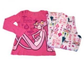 Pink Panther Womens Pajamas Fleece Sleep Lounge Pants PJs