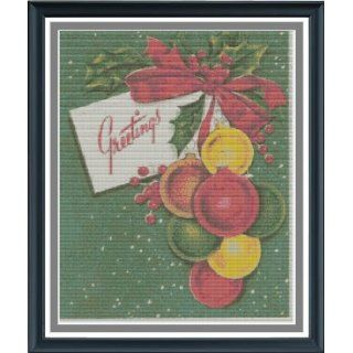 Christmas Greetings Counted Cross Stitch Pattern