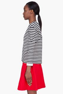 Marc By Marc Jacobs Black Striped Ben Sweater for women