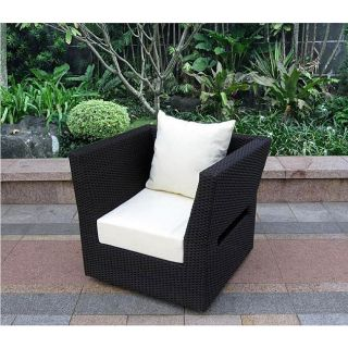 Cynthia Woven Wicker Outdoor Lounge Chair