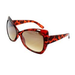 Womens Brown Butterfly Sunglasses