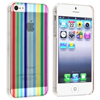 BasAcc Rainbow Strip Snap on Case for Apple iPhone 5