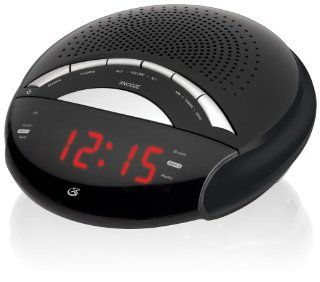 GPX C222B AM/FM Clock Radio with Dual Alarms (Black