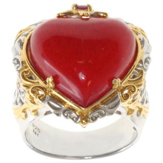 Michael Valitutti/ Dr. Robi Two tone Red Jade and Ruby Ring
