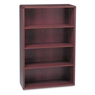 HON 10600 Series 4 Shelf Wood Bookcase   Mahogany
