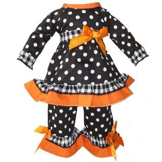 Ann Loren Gingham and Dots Outfit For 18 inch American Girl Dolls