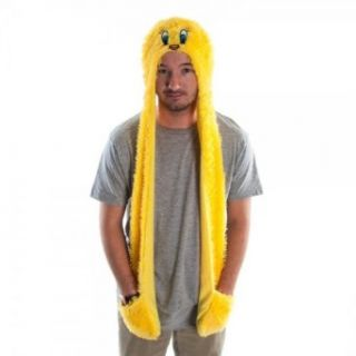 Looney Tunes Yellow Tweety Bird Furry Jrs Snood Skood Hat