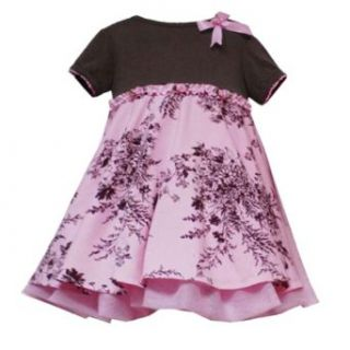 Rare Editions Baby/Infant Girls 3M 24M PINK BROWN FLORAL