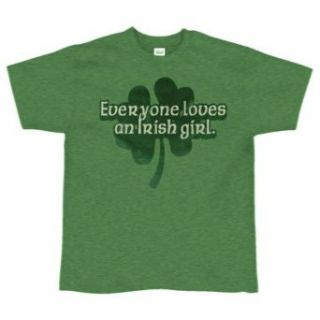 Everyone Loves An Irish Girl Ladies T Shirt   Medium