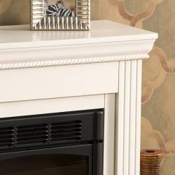 Tillman Ivory Petite Electric Fireplace