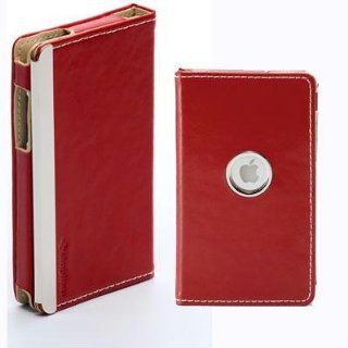 Simplism Leather Flip Case for iPod touch 2G, 3G (Red