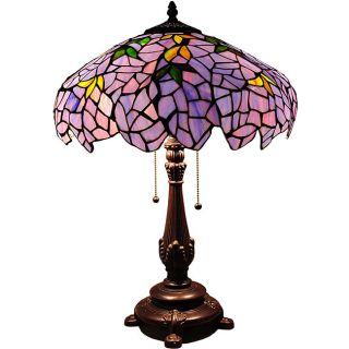 Tiffany style Wisteria 2 light Table Lamp