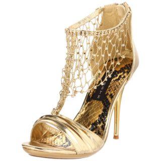 Celeste Womens Hana 14 Gold Back zip Sandals