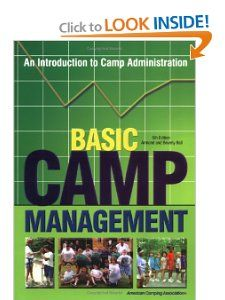 Basic Camp Management An Introduction to Camp Administration Armand