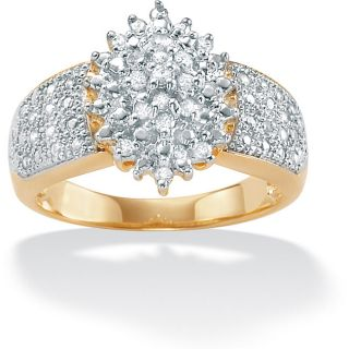 10k Gold Diamond Cluster Ring