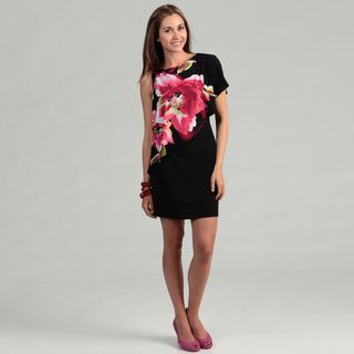 Sandra Darren Womens ITY Floral Print Dress