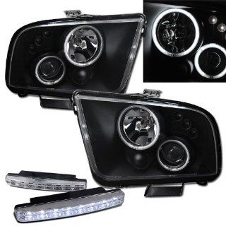 2007 Ford Mustang Halo Projector Headlights + 8 Led Fog Bumper Light