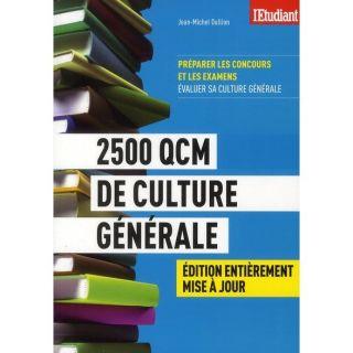2500 QCM DE CULTURE GENERALE   Achat / Vente livre pas cher