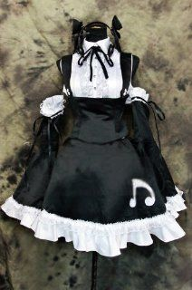 STYLE227 BLACK MAID THICK SATIN DRESS, Crossdress, Sissy