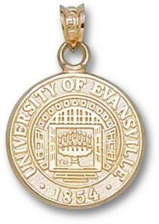 Evansville Purple Aces Seal Pendant   14KT Gold Jewelry
