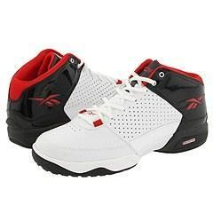 Reebok Rbk Buckets II White/Black/Reebok Red Shoes