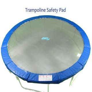 15 foot Round Blue Super Trampoline Safety Pad
