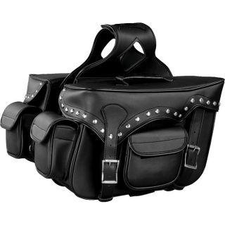 Raider Large Black Studded Motorcycle Saddle Bags Today $124.99