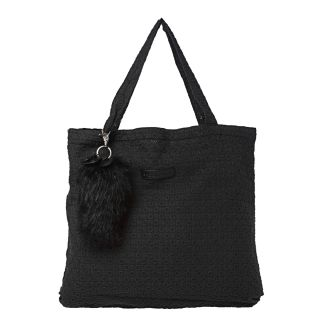 See by Chloe Black Stitch Dot Canvas Tote Bag