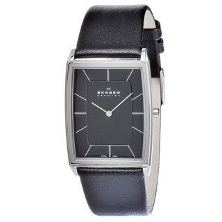 Skagen Mens Stainless Steel Rectangular Watch