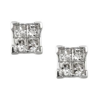 14k White Gold 1/3ct TDW Diamond Composite Earrings (H, I1