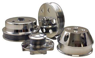 CHEVY SMALL BLOCK BILLET LONG WATER PUMP SERPENTINE PULLEY SET