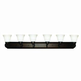 Sunlite B648D/DB/AL 48 Inch 6 Lamp Down Decorative Vanity Wall Fixture