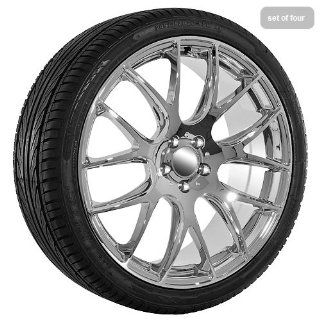 20 Inch Chrome 235 Series Wheels Rims and Tires for Jaguar :