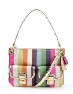 com Coach Signature Hamptons Stripe Carly Bag Purse Tote 19389 Shoes