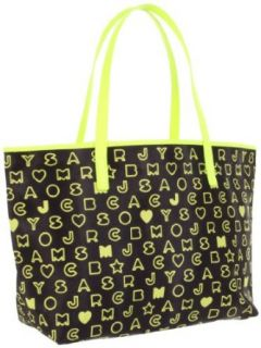 Marc by Marc Jacobs Dreamy Logo Eazy Bag Tote Black Yellow