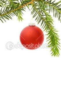 Christmas border with festive red bauble  Stock Photo © Eireann