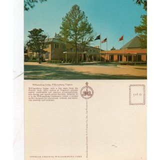 Vintage Post Card: Williamsburg Lodge, Virginia, Official