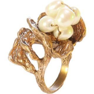 Silvana K Designs Bird Nest Ring With Pearls (Gold   Size 7) Shoes